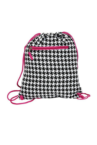 "15"" Drawing Houndstooth Pattern Backpack Bags"