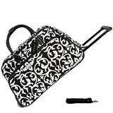 "JChronicles 21"" Damask Print Rolling Duffel Bags"
