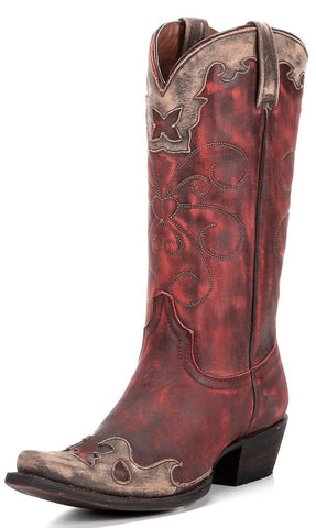 American Rebel Women's Nikki Boot-Vintage Red/Cinnamon