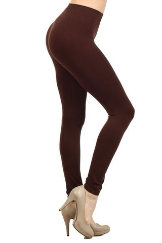 Ladies Solid Coffee Color Nyron Legging