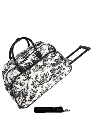 "JChronicles French Toile Print 21"" Rolling Duffel Bags"