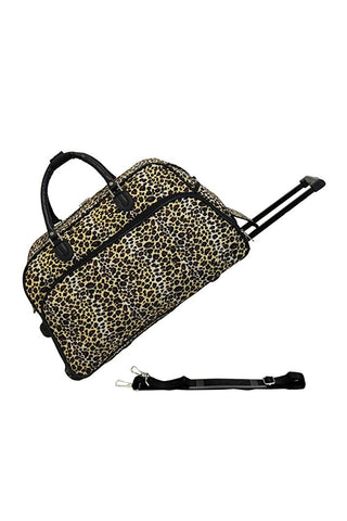 "JChronicles Leopard Print 21"" Rolling Duffle Bags"