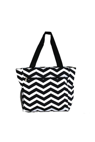 JChronicles Fashion Chevron Beach Tote Bags