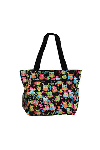 JChronicles Owl Print Beach Tote Bags
