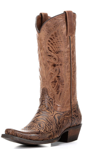 Women's Angelica Boot-Distressed Cognac