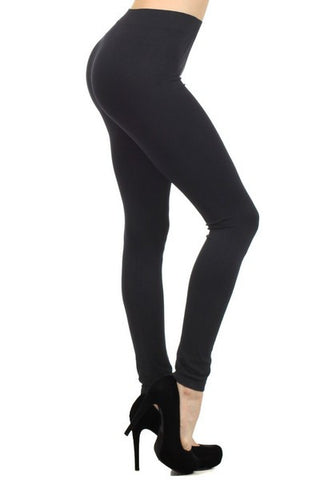 Ladies Solid Black Color Nylon Legging