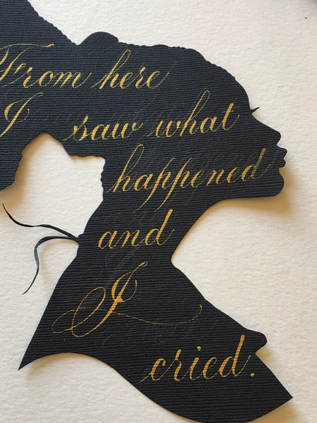 Two Custom Hand Cut  Silhouette Portraits - Hand Cut Paper Silhouette - 2