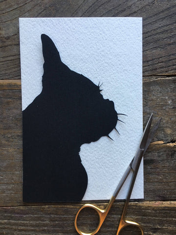 Hand Cut Pet  Portrait Silhouette