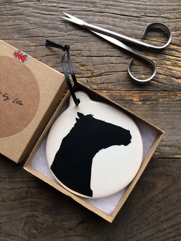 Custom Pet Silhouette Ornament - Silhouettes by Elle
