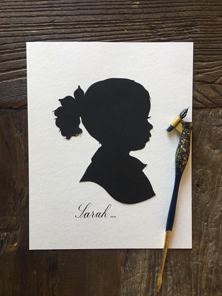 "9 x 12"" Personalized Silhouette Art"