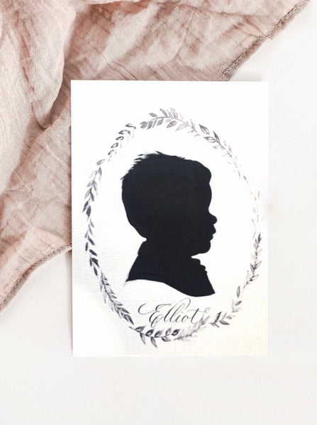 Custom Silhouette Painting Art ; 8 by 10 Painting Art