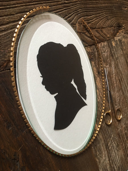 Custom Portrait on Beveled Oval Glass