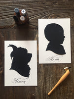 Custom Hand Cut Pet  Portrait Silhouette
