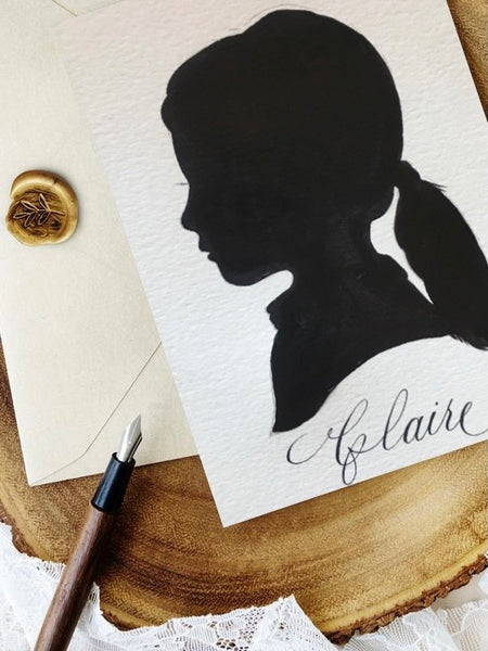 Custom Painted Silhouette Portrait