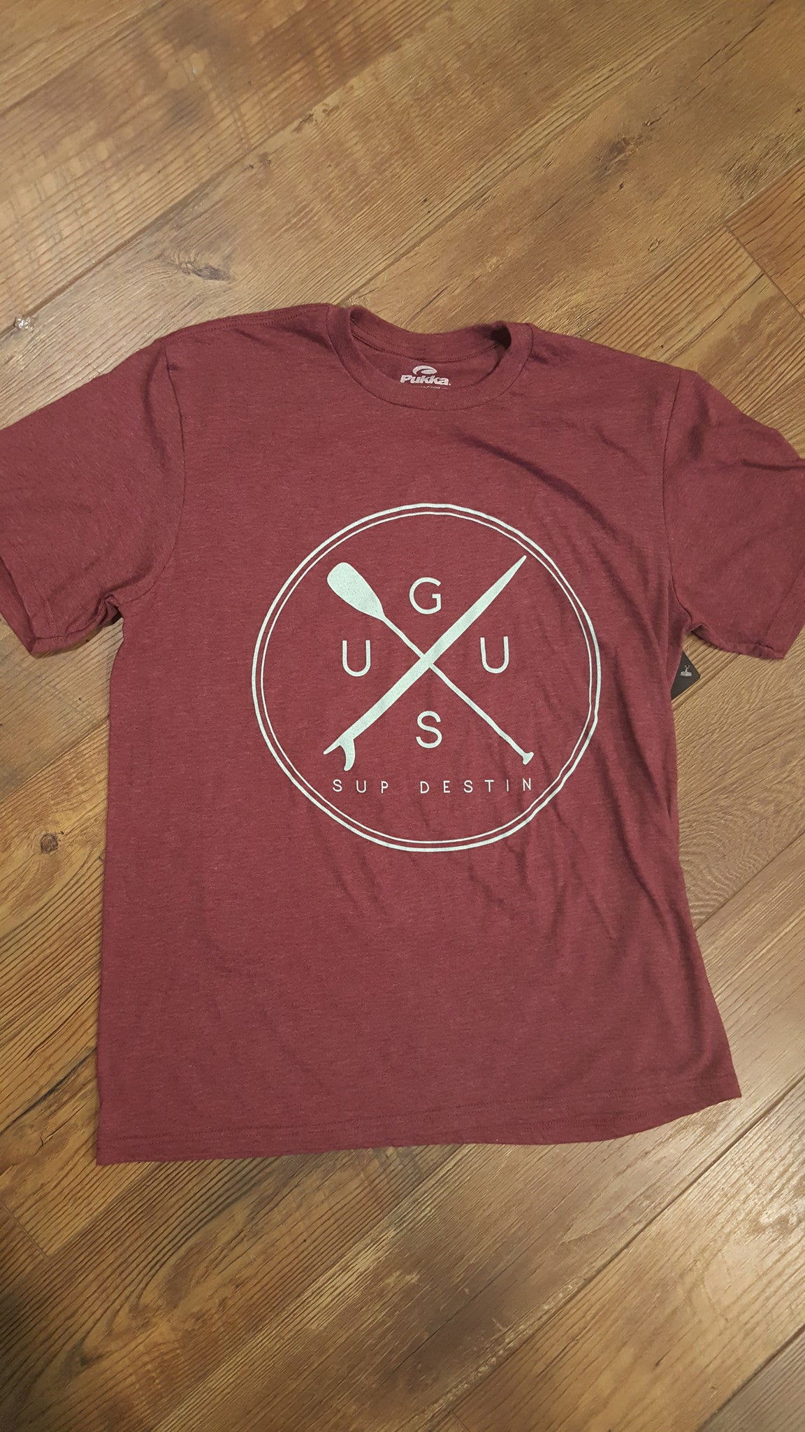 "GUSU T-shirt  ""Large Circle Logo SUP Destin"""