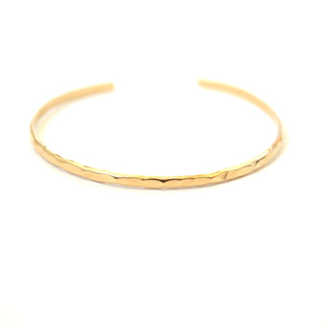 hammered gold bracelet