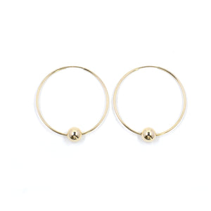 Sphere Hoops | Gold