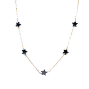 Shooting Star Choker | Gunmetal