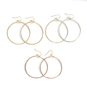 Hammered Hoops LG