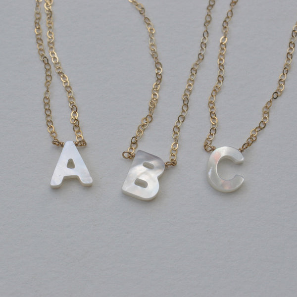 Juliett Letter Necklace
