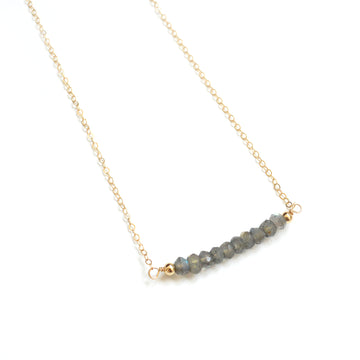 Gemstone Bar Necklace