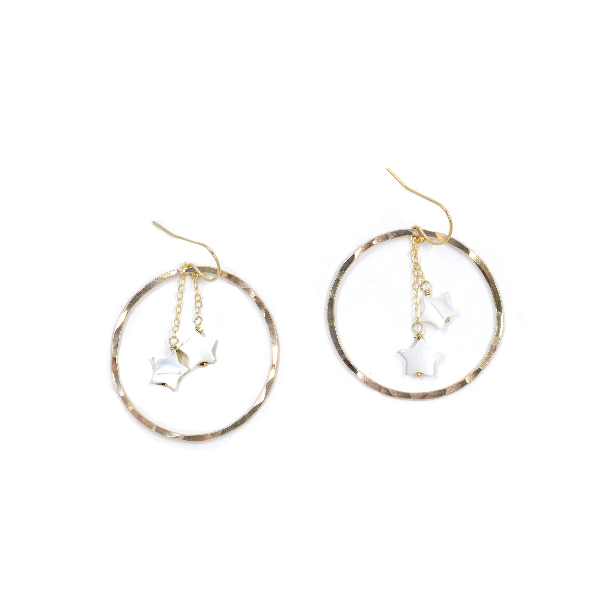 Shooting Star Hoops | Mother of Pearl