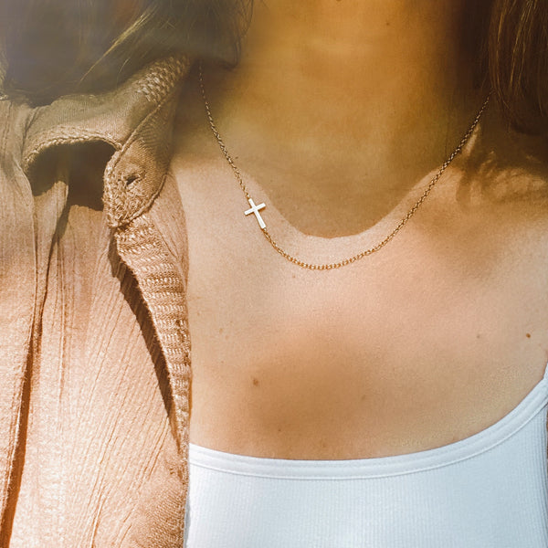Cross Necklace | 14k Solid Gold