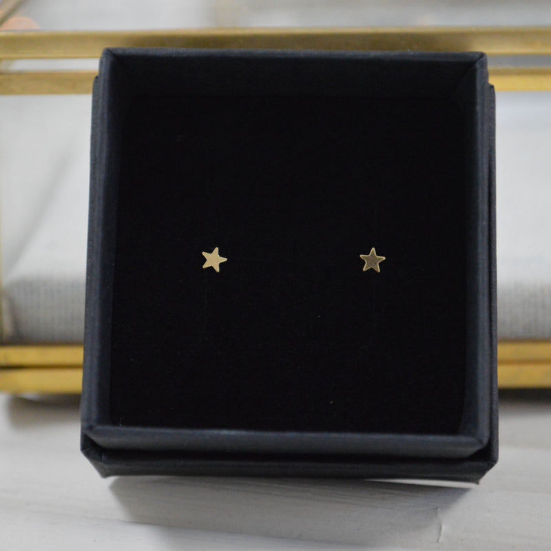 Star Studs | 14k Solid Gold