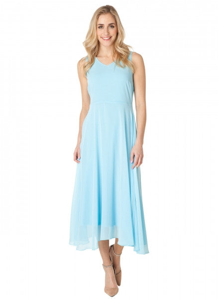 Blue Sky Chiffon Dress