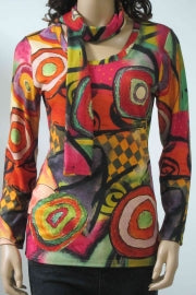 Radzoli Color Splash Top with Scarf