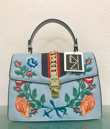 Inzi Embroidered Handbag