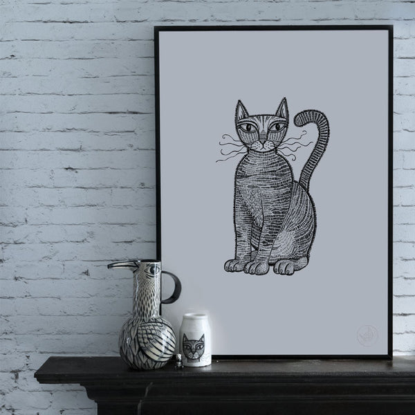 Cat Limited Edition Screen Print #1