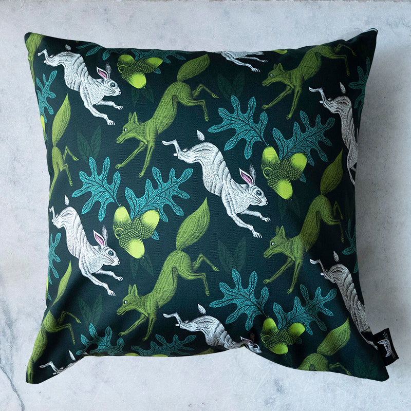 Hare Print Cushion Cover