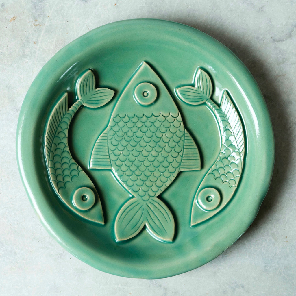 Green 3 Fish Plate