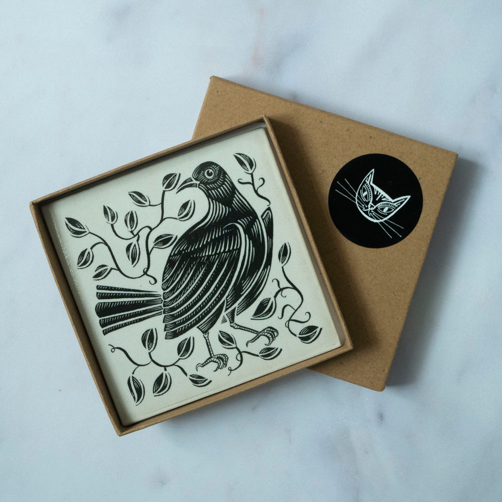 Bird tile card