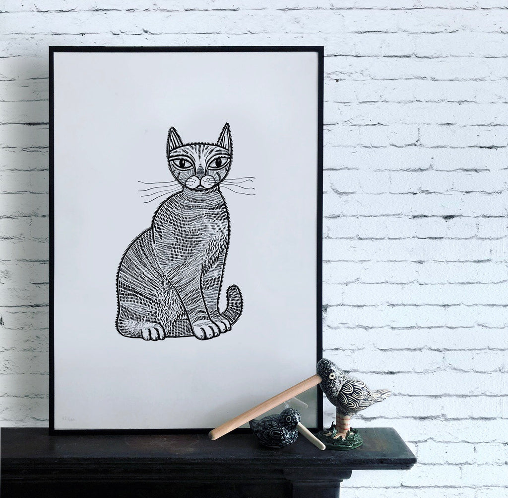 Cat Limited Edition Screen Print #2