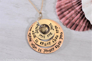 Solid Gold Dr. Seuss Quote Pendant Necklace - Today You Are You... - Purple Pelican Designs
