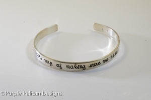 Cousin Bracelet A cousin is God's way of making sure we never walk alone - Purple Pelican Designs