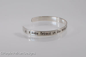 Best Friend Bracelet - A dear friend is the sister... - Purple Pelican Designs