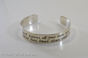 Best Friend Bracelet - A good friend knows all your best stories... - Purple Pelican Designs