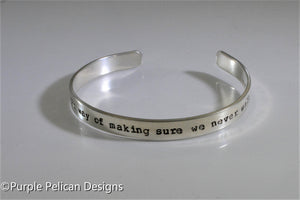 A Sister Is God's Way Of Making Sure We Never Walk Alone Cuff Bracelet - Purple Pelican Designs