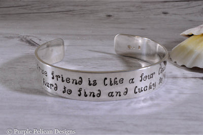 A Good Friend Bracelet Good Friend is Like A Four Leaf Clover Bracelet