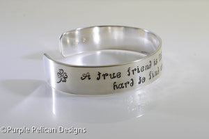 Best Friend Bracelet - A true friend is like a four leaf clover... - Purple Pelican Designs