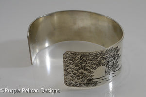 The Giving Tree Cuff - And She Loved A Little Boy Very Very Much... - Purple Pelican Designs