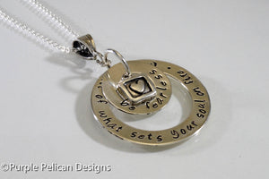 Graduation Necklace - Be Fearless In Pursuit Of What Sets Your Soul On Fire