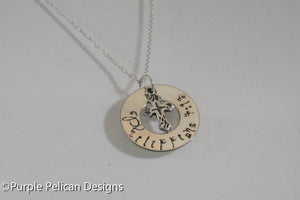Bible Verse Necklace - Customized - Purple Pelican Designs