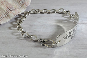 Breathe In Breathe Out Move On Chain Bracelet - Purple Pelican Designs