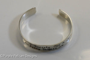 Jimmy Buffett Song Lyrics Bracelet - Breathe In Breathe Out Move On - Purple Pelican Designs