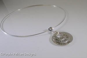 Breathe in, Breathe out, Move on Necklace - Purple Pelican Designs