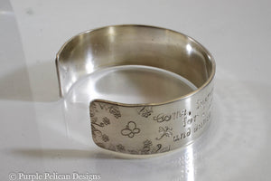 Come Fairies, Take Me Out Of This World....William Butler Yeates Quote Cuff - Purple Pelican Designs